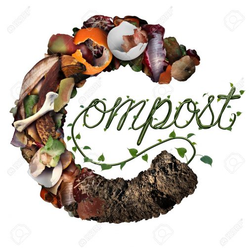 91914352 compost concept and composting symbol life cycle and an organic recycling system as a pile of rottin